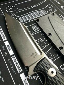 Bastinelli apocalypse knife 5.75 stonewash finish fix blade Lionsteel D2