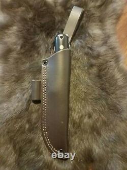Battle horse knives, Woodsman Pro, O1, upgraded leather sheath, lightly used