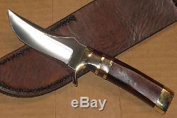 Beautiful vintage Dan Harrison custom made hunting knife & sheath