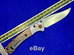 Benchmade 15085-2 Mini Crooked River Folding Hunting Knife CPM-S30V Used (E63)