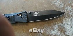 Benchmade 530 Mel Pardue Axis Lock Folding Knife Plain Blade Edge Black Sharp