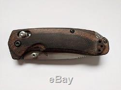 Benchmade Hunt 15031-2 North Fork Folder, Axis Knife, Wood Handle, Satin S30V