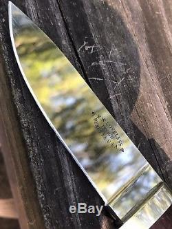 Beretta R. W. Loveless Model 204 Drop Point Hunter Knife (made By Hattori Japan)