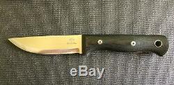 Blackfeather knives woodsman full custom fixed black feather NOT bark river