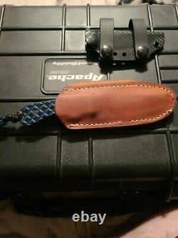 Bradford USA Knife Guardian 3 N690 kydex sheath and leather
