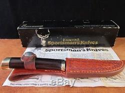 Browning Sportsman Series model 3718 Drop Point hunting knife Ichiro Hattori M