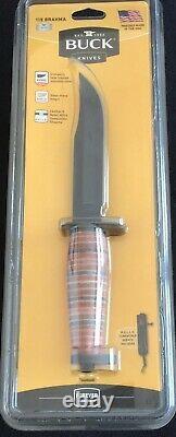 Buck Knives 119 Brahma 6 Fixed Blade Hunting/Survival Knife w Sheath Leather