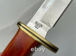 Buck Knives 119 Fixed Blade Knife with Leather Sheath and Wood Handle
