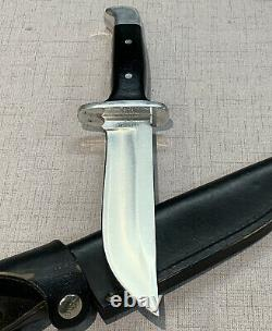 Buck Knives 124 Frontiersman Fixed Blade Knife With Black Leather Sheath