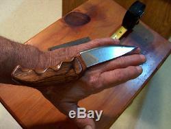 CUSTOM MADE HUNTING KNIFE Skinner FANCY HANDLE Never Used