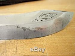 CUTCO 1765 WHITE PUMA EXPLORER HUNTING KNIFE and LEATHER SHEATH