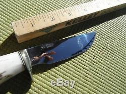 Campbell Handmade Knives Hunting camping knife. Nice polished Blade Made in USA