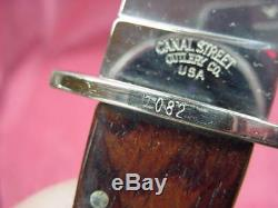 Canal Street Cutlery Co. Large Hunting/Bowie Knife & Sheath 7 Inch blade, #082