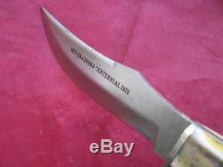 Case XX 523-5 SSP Vintage Hunting Knife withSheath, Bradford Centennial 1979