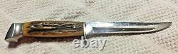 Case XX 5FINN stag fixed blade 1940-1965 knife & sheath EXCELLENT CONDITION