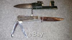 Collectors Puma-Werk pre 1964 fixed blade hunting knife. Sheath included