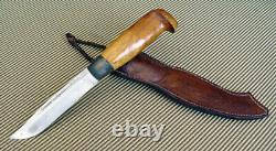 Colletible Vintage (1952) Finnish Hunting Puukko Knife (xv Olympic) J. Marttiini