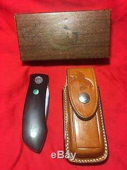 Colt Hunting Knife Barry Wood Folder In Box Very Nice 1974 Randall Swinglock