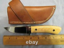 Custom Handmade Knife. Drop Point Hunter. Claude Montjoy. Unused. Excellent