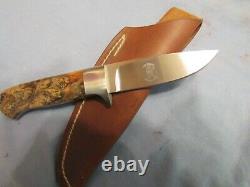 Custom Handmade Knife. Russell Easler Drop Point Hunter. Unused. Excellent++