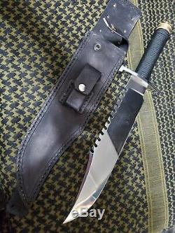 Custom Steeve Voorhis Handmade Rambo Style Survival Hunting Knife Knives