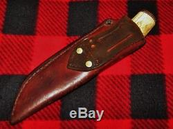 Custom Vintage Irvin Campbell, IRBI, Handmade Hunting Knife, Seward, Alaska