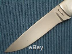 DAVE RICKE Fixed Blade Hunter, Custom Handmade Sambar Stag Hunting Knife, Sheath