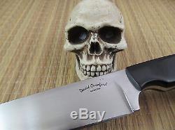 David Crawford Custom Handmade Knives Hunting/EDC 52100 Steel Leather Sheath