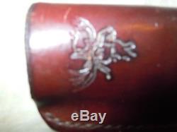 Deer Antler Handle Hunting Knife. Custom made in Alaska. Maker, Virgil Campbell