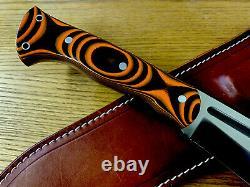 Discontinued Bark River Knives JX5 Vengeful 1 CPM 3V Tigerstripe G10 15.6