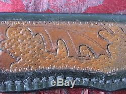 Don Lozier Custom Handmade Hunting Knife, Amber Bone Handle, withSheath