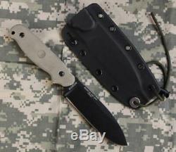 ESEE-LS Laser Strike Plain Edge Fixed Blade Knife & Kydex Sheath & Survival Card