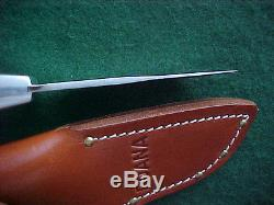 Excellent Ruana Midget Knife Hangas Signed Post Rudy Hunting + Great Sheath Nr