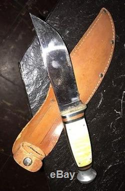Early West-Cut Hunt KniFe Boulder Colo StillRetaining Original Finish & Edge Wow