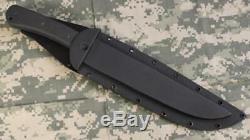 Entrek USA RANGER MKII 440C Fixed Blade Double Edged Knife & Hard Sheath Black
