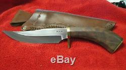 Extremely Rare Walt K. Bushman Sheath Knife. Never Used Outside of Display