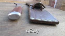 FINEST Antique Fur Trade Bolstered Fur Trade Hunting Skinning Knife withSheath