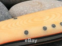 Fiddleback Forge BEAR PAW Natural Micarta Handle Knife 9.125