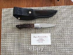 Frazier Handmade knives custom hunting knife withsheath