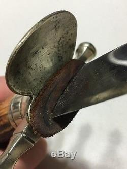 Genuine German Imperial Hunting Cutlass Dagger Sword With Skinning Knife Stag