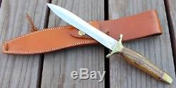 Gerber Double Edge Fixed Blade Hunting Knife & Sheath MKII MK 2 Presentation