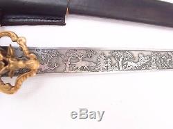 German Dagger Prussian Hunting Forestry Cutlass Sword Knife! BOAR Head Pommel