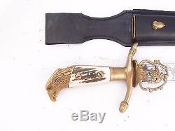 German Dagger Prussian Hunting Forestry Cutlass Sword Knife! Eagle Head Pommel