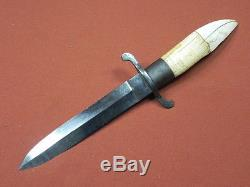 German Germany Antique 19 Century HERRFURTH Hunting Fighting Knife with Sheath