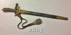 German Imperial Hunting Dagger Cutlass WithSkinning Knife Stag Numbered WKC Knot