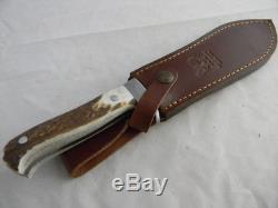 German Stag Hen & Rooster White Hunter Style Puma Hunting Survival Knives Knife
