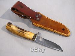 Handmade Morseth Fixed Blade Hunting Knife With Sheath