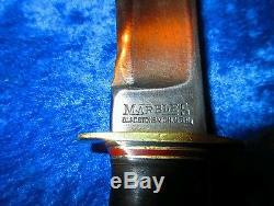 HUGE, 12 IN. MARBLES, Vintage, 1918-45's, Hunting Knife, STAG POMMEL