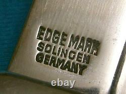 Huge Vintage Edge Solingen Germany 469 Stag Hunting Survival Bowie Knife Knives