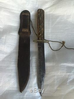 J. Russell GREEN RIVER WORKS Stag Handle Hunting Knife & Sheath